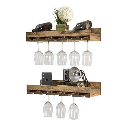 Oconner Wall Mounted Wine Glass Rack Set Of 2