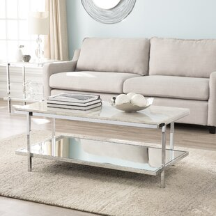 Skipton Faux Marble Coffee Table Everly Quinn