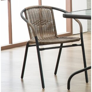 Highland Dunes Bemadette Rattan Patio Dining Chair (Set of 2)