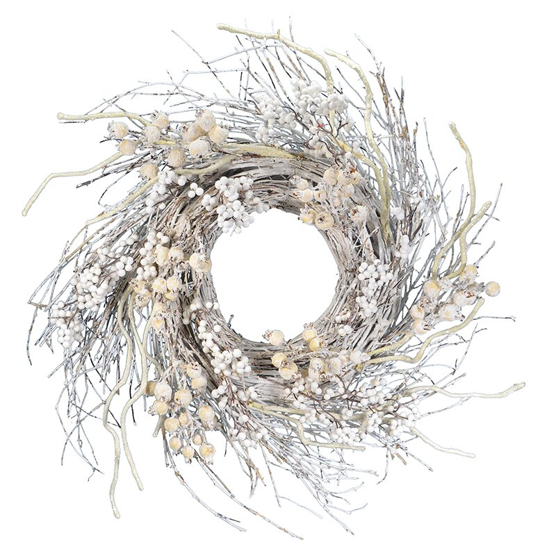 Winter Berry Real Twigs and Sticks Wreath