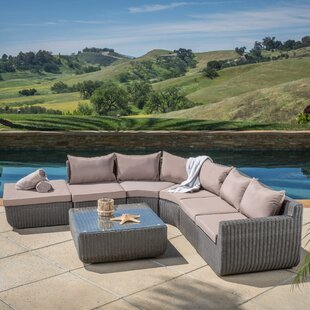 Trabuco 6 Piece Sectional Set with Cushions by Home Loft Concepts