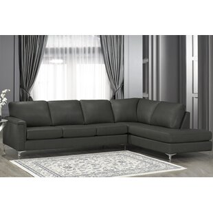 Platte Premium Top Grain Italian Leather Right Hand Facing Sectional