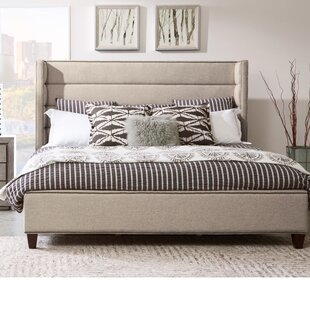 Heyman Channeled Upholstered Panel Bed