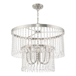 Loyce 5-Light Crystal Chandelier by House of Hampton
