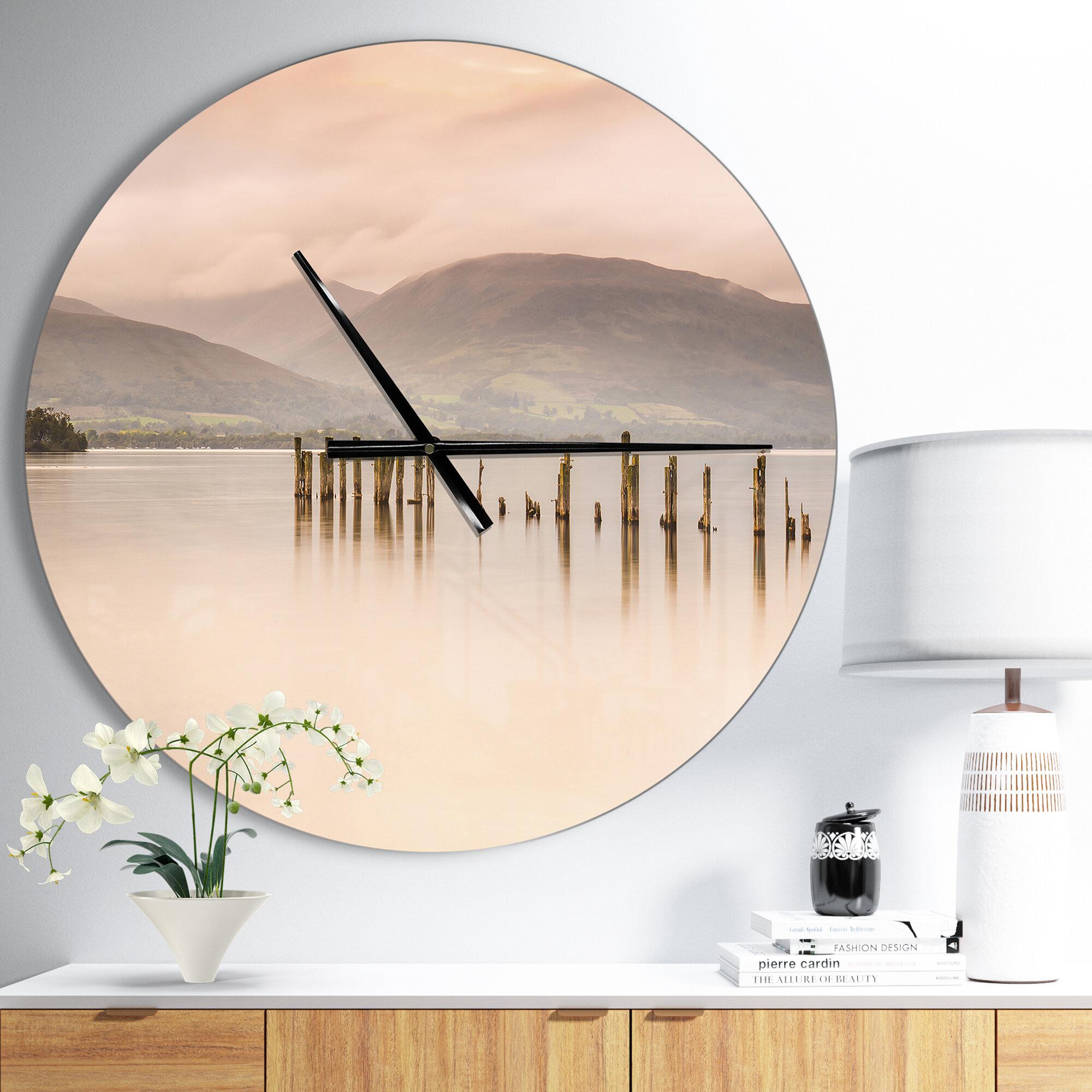 East Urban Home Loch Lomond Jetty And Mountains Coastal Wall Clock Wayfair