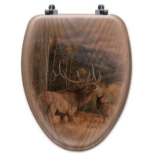 WGI-GALLERY Meadow Music Oak Elongated Toilet Seat