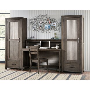 Belgrade 4 Piece Office Set With Hutch by Three Posts New