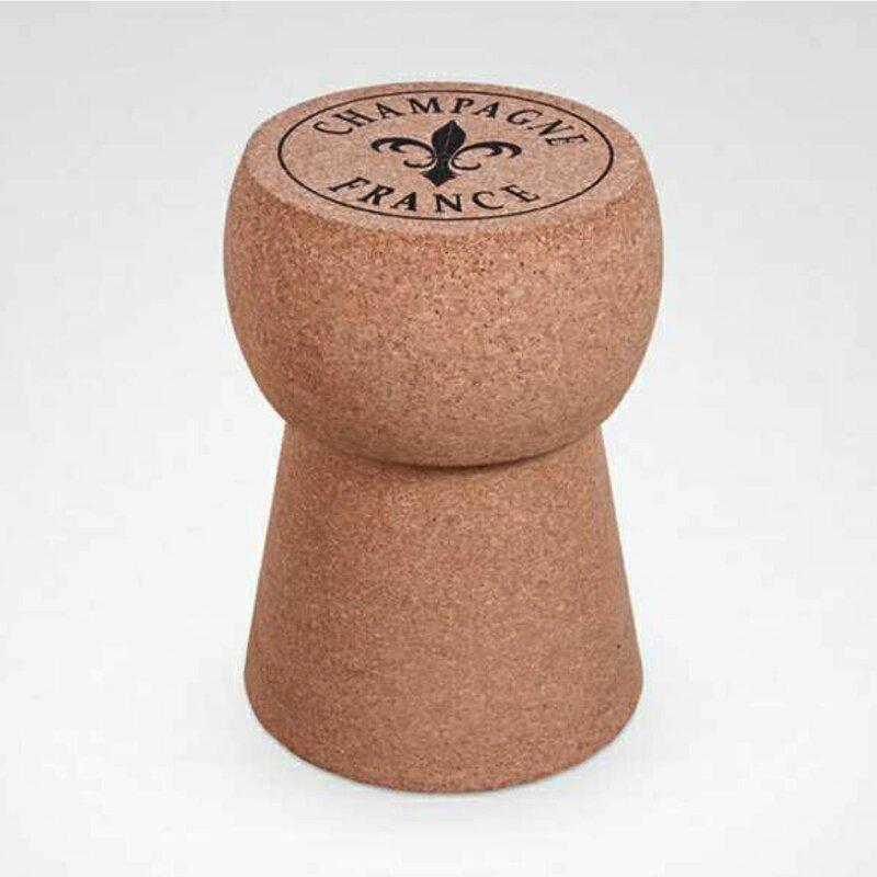 Kingsbottle Champagne Cork Accent Stool Wayfair