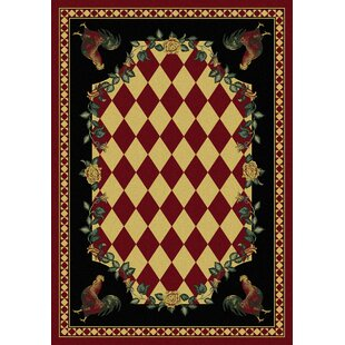 Best Choices Novelty Synthetic Red/Black Area Rug ByAmerican Dakota