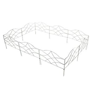 0.6m x 0.5 Aral Border Fence (Set of 10) by Home & Haus