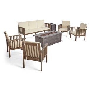 Bottoms Outdoor 7 Piece Sofa Seating Group with Cushions by Charlton Home
