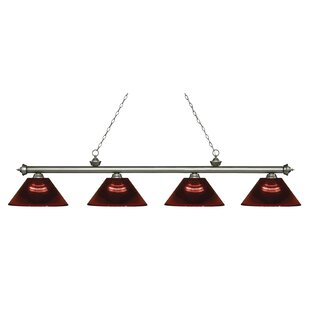 Zephyr 4-Light Adjustable Billiard Light By Red Barrel Studio
