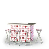 Yokley Valentines Hearts 5-Piece Bar Set