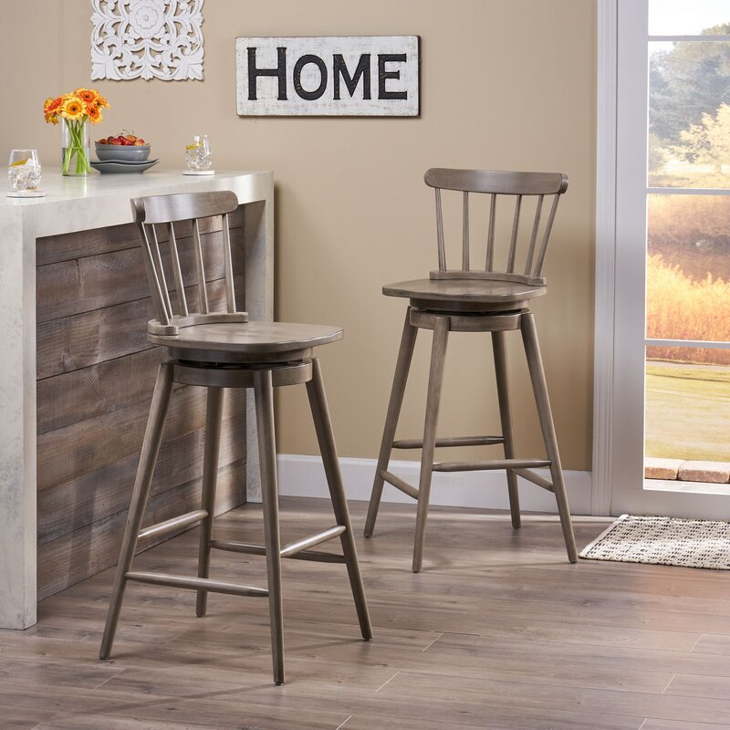 Gracie Oaks Lage 30 Swivel Bar Stool Reviews Wayfair