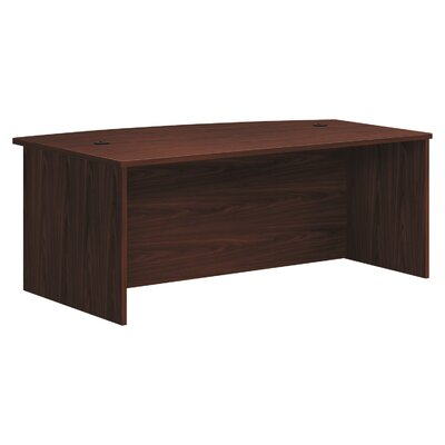 Foundation Bow Top Shaker Desk HON Color: Mahogany