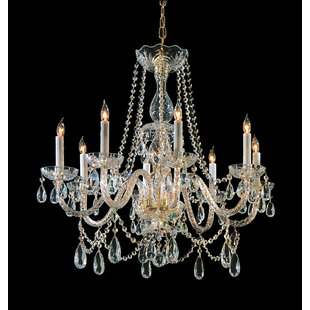 Milan 8-Light Candle Style Chandelier
