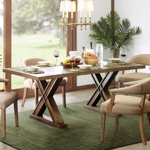 Parlier Rectangle Dining Table by Loon Peak