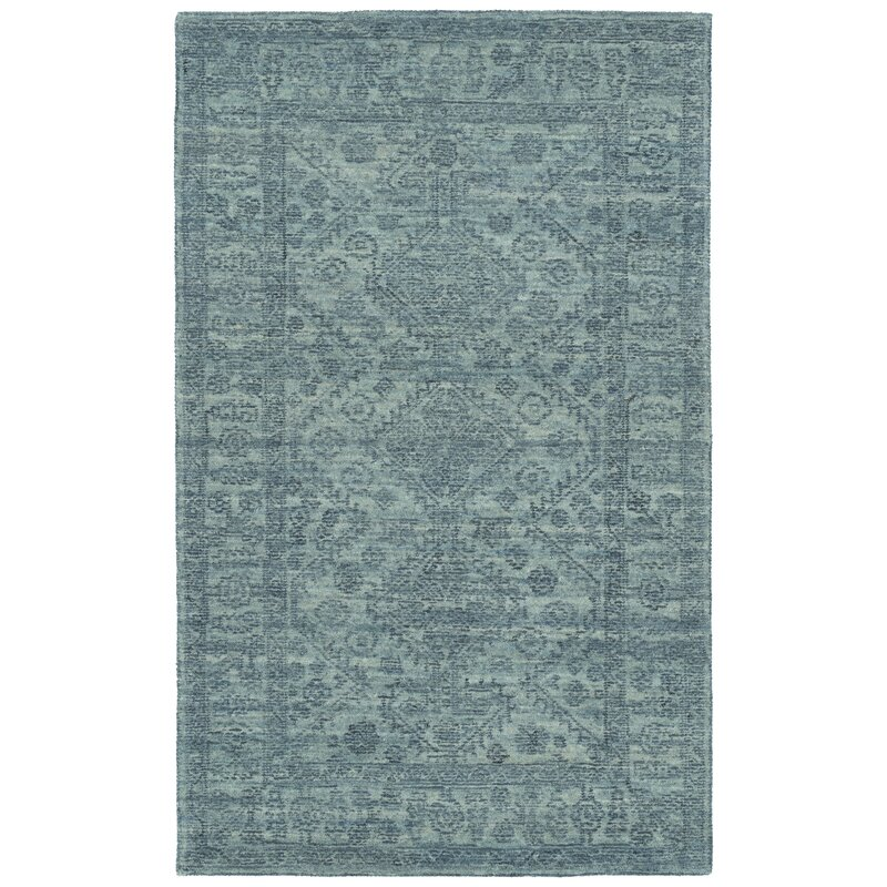 Bungalow Rose Dunbury Geometric Hand Tufted Blue Indoor Area Rug Wayfair