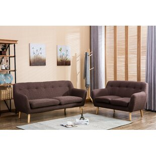 Read Reviews Albany 2 Piece Living Room Set by Noble House Reviews (2019) & Buyer's Guide