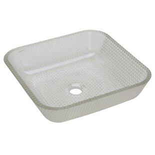 JSG Oceana Cubix Glass Square Vessel Bathroom Sink
