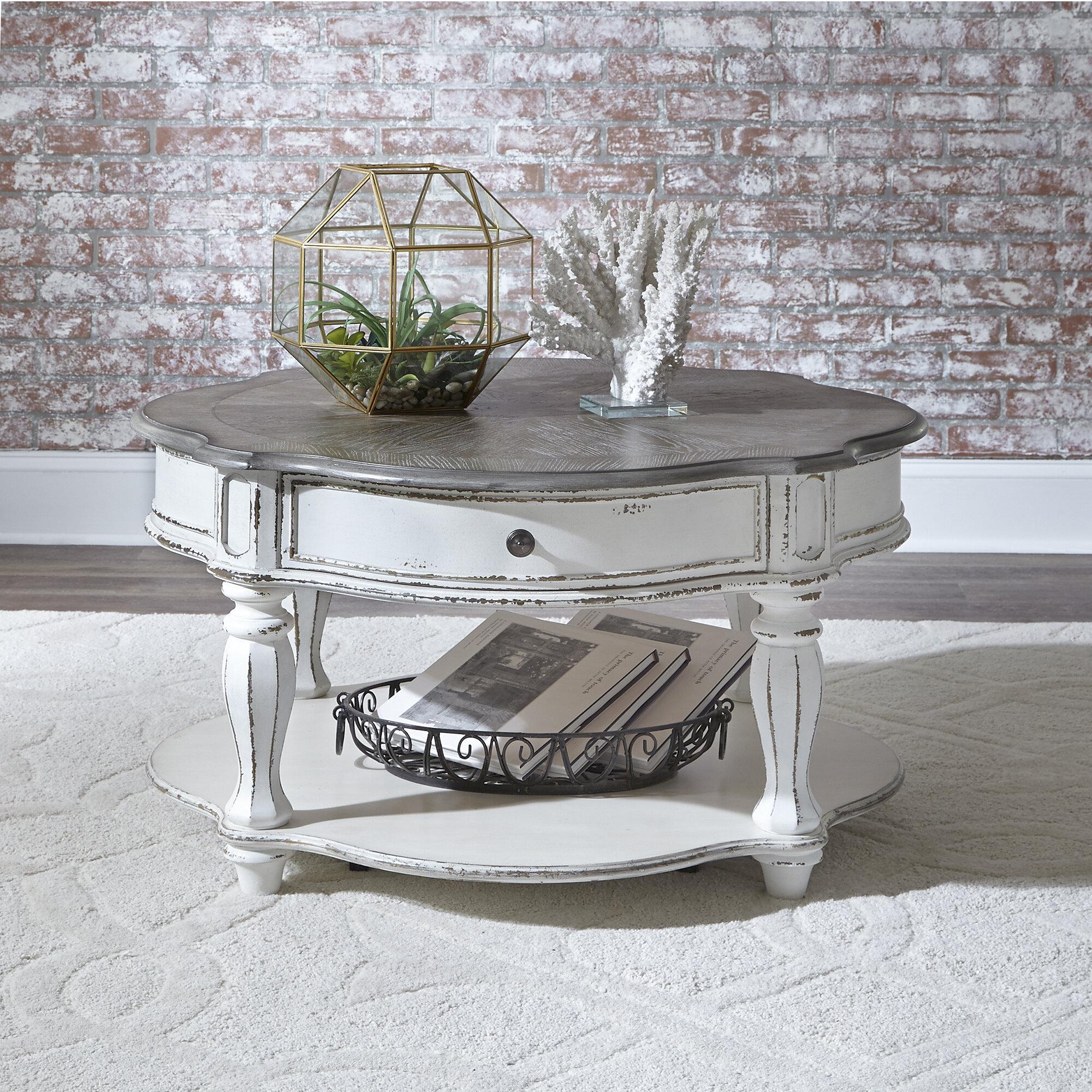 One Allium Way Tavant 4 Legs Coffee Table With Storage Reviews Wayfair