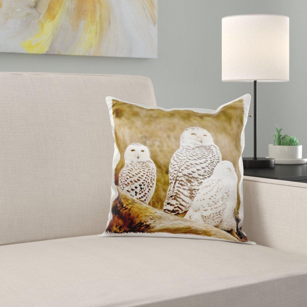 East Urban Home British Columbia Boundary Bay Snowy Owls Pillow Cover Wayfair
