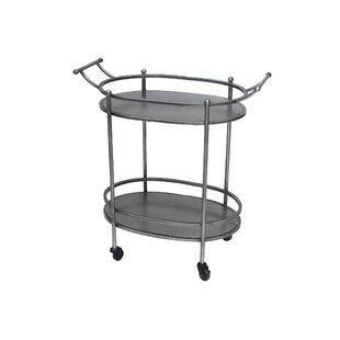 Christopherso Oval Bar Cart by Williston Forge