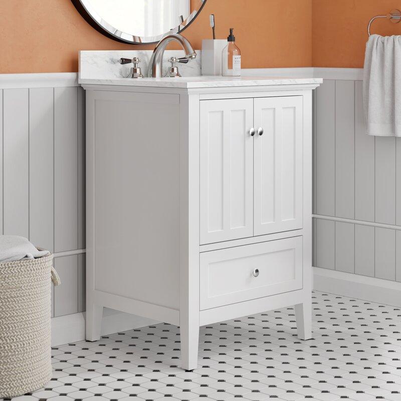 Ebern Designs Quezada 25 Single Bathroom Vanity Set Reviews Wayfair