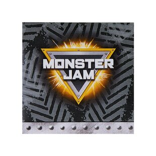 Monster Jam Paper Disposable Beverage Napkin (Set of 16)