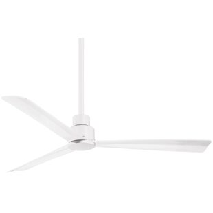 52 Simple 3 Blade Outdoor Ceiling Fan with Remote by Minka Aire