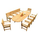 Mateer 11 Piece Teak Dining Set