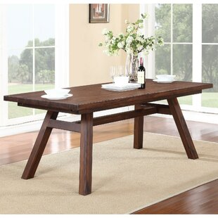 Garr Solid Wood Dining Table by George Oliver Spacial Price