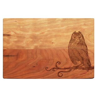 Wise Old Owl Wood Artisan Cherry Board