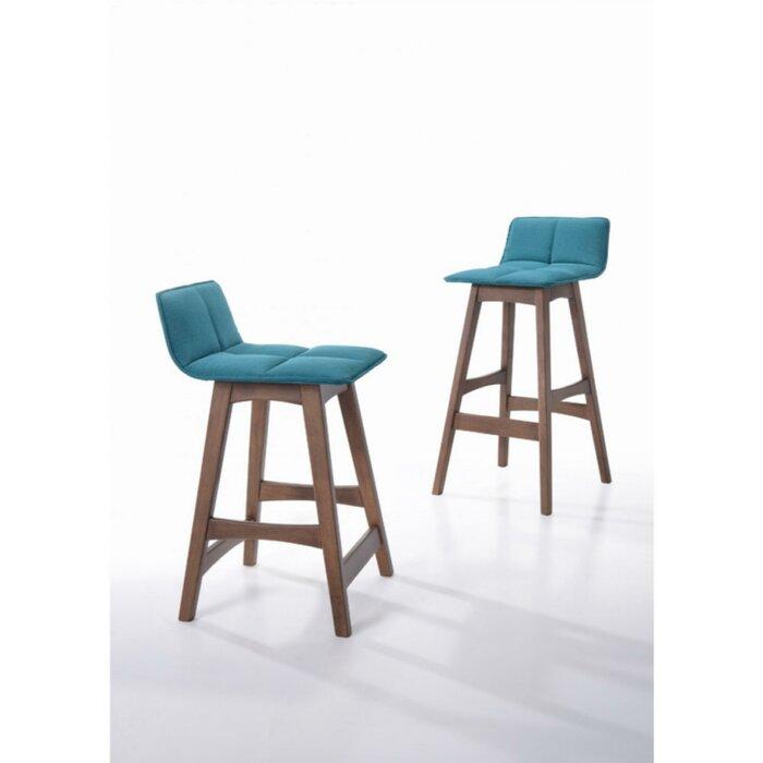 Awesome Sandi Fabric Upholstered Adjustable Height Bar Stool Cjindustries Chair Design For Home Cjindustriesco