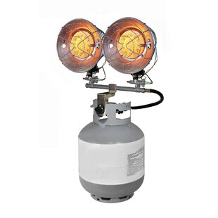 15,000 BTU Portable Propane Radiant Tank Top Heater With Tip Over Safety Switch By Dyna-Glo