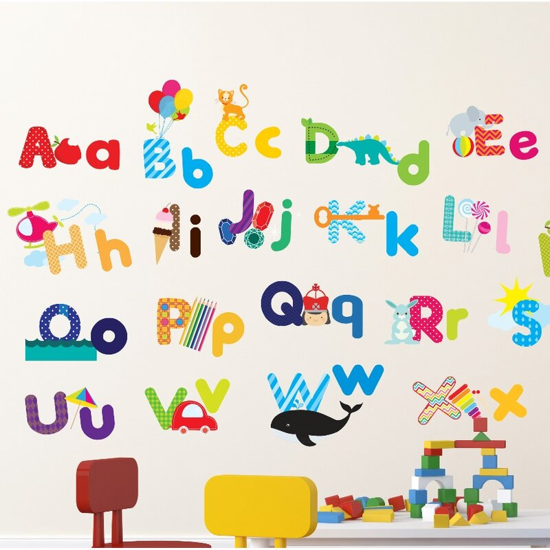 Whimsical Alphabet Nursery Wall Decal