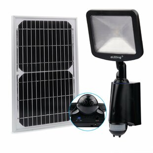 Compare prices Kisner Solar Hybrid Microgrid LED Outdoor Floodlight with Motion Sensor By Symple Stuff