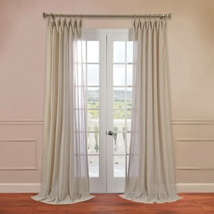 Cristopher Solid Sheer Rod Pocket Single Curtain Panel by Willa Arlo Interiors