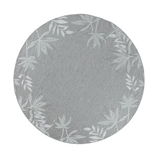Maguire Sage Fern Border Indoor/Outdoor Area Rug