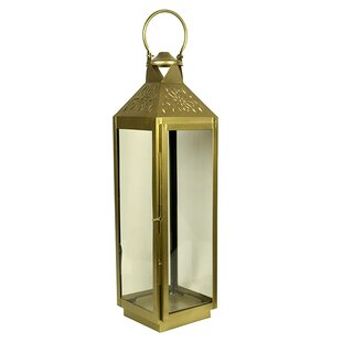 Square Glass/Metal Lantern