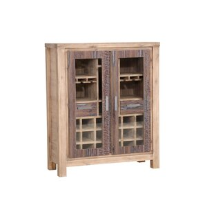 Barry Bar Glass Cabinet With Wine Storage By Union Rustic