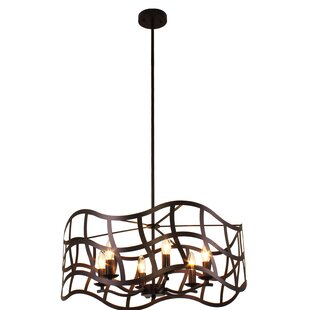 Heron Transitional Ceiling 6-Light Drum Chandelier