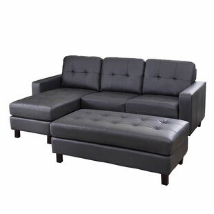 Oliver Reversible Modular Sectional with Ottoman