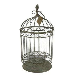 Joyce Metal Bird Cage with Antique Finish by Brambly Cottage