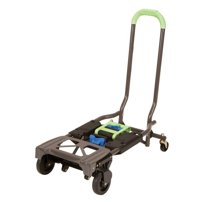 Green Cosco Shifter 300-Pound Capacity Multi-Position Heavy Duty Folding Hand Truck and Dolly