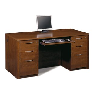 Latitude Run Witchel Desk Office Suite with Pedestal