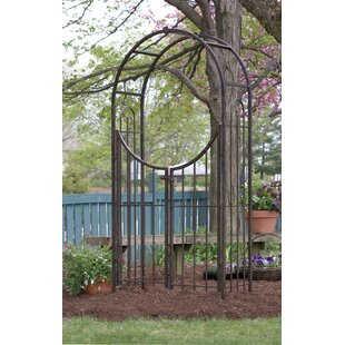 Arched Top Steel Arbor With Gate