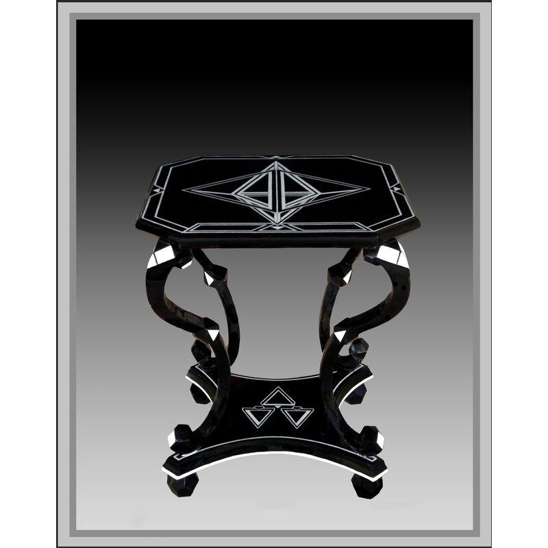 Infinityfurnitureimport Immanuel Diamond Top Mother Of Pearl End Table Wayfair