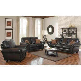 Darby Home Co Fallsburg 3 Piece Leather L..