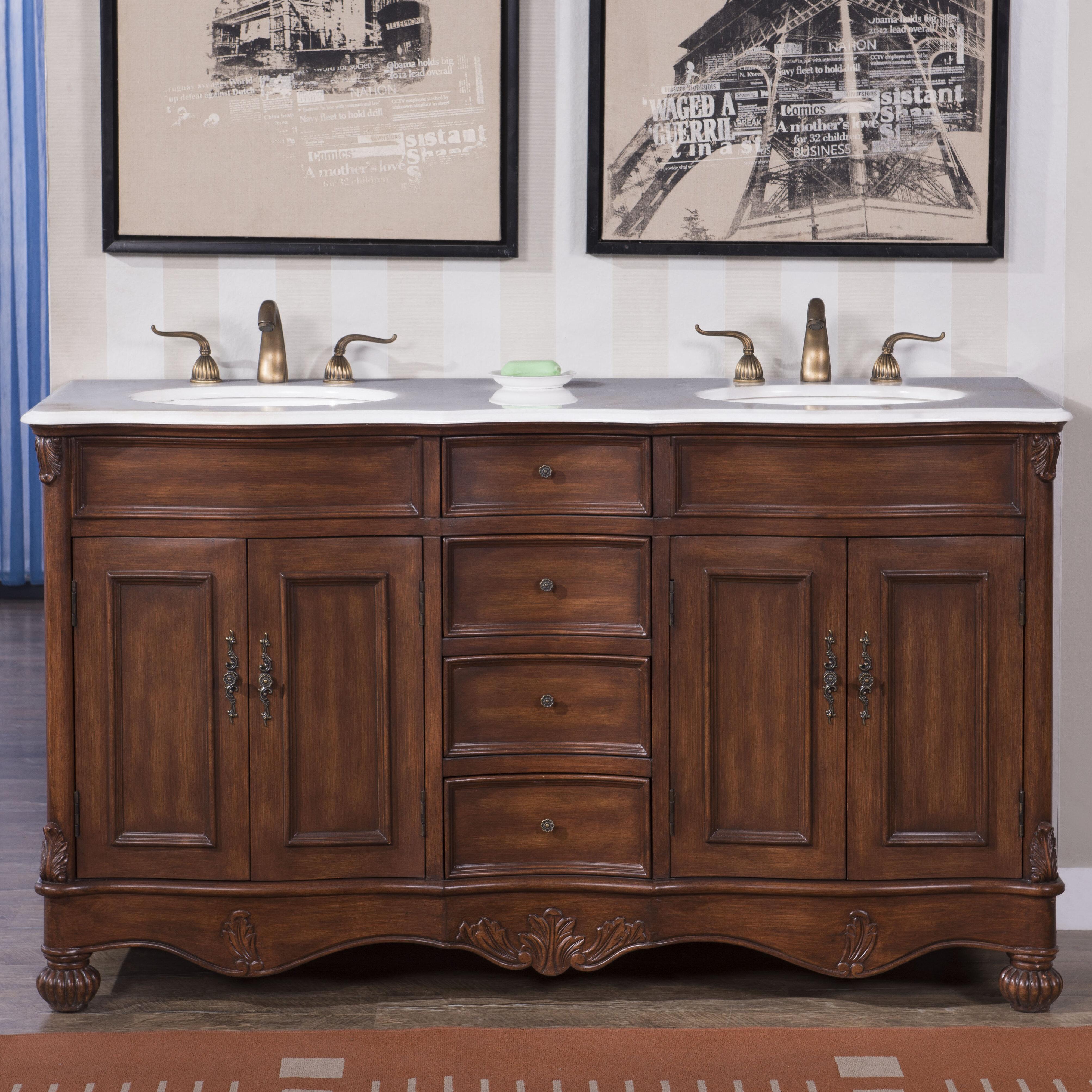 Astoria Grand Torrey 60 Double Bathroom Vanity Set Reviews Wayfair